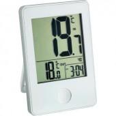 Vezeték nélküli hőmérő órával, fehér, TFA