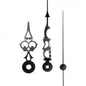 Óramutató készlet, alumínium, 51x76x70mm, fekete, Antik