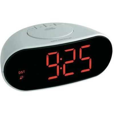 Rádiójel vezérelt digitális ébresztőóra hálózati adapterrel 110 x 170 x 78  mm 0aeddd1d73