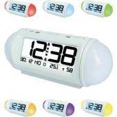 Rádiójel vezérelt digitális ébresztőóra hőmérővel, Wake up Light, 185x75x75 mm, Techno Line WT 499
