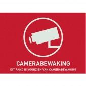 ABUS AU1305 Figyelmeztető matrica Videó felügyelet Nyelvek Holland (Sz x Ma) 74 mm x 53 mm