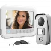 Avidsen 112271 Videó kaputelefon 2 drótos Komplett készlet 1 családiház Fehér, Szürke