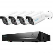 Reolink RLK8-810B4-A rl88d4 LAN IP-Megfigyelő kamera készlet 8 csatornás 4 db kamerával 3840 x 2160 pixel