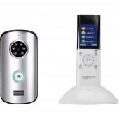 Sygonix SY-3396994 Videó kaputelefon Rádiójel vezérlésű Komplett készlet Ezüst, Fehér/fekete