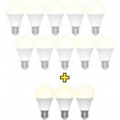 Basetech LED EEK A+ (A++ - E) E27 Izzó forma 9 W = 60 W Melegfehér (Ø x H) 60 mm x 110 mm 13 db