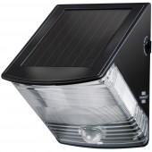 Brennenstuhl SOL 04 plus 1170970 Napelemes kültéri fali lámpa mozgásjelzővel 1 W Nappalifény-fehér Fekete