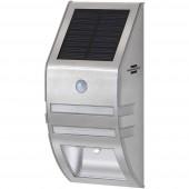 Brennenstuhl SOL WL-02007 1170780 Napelemes kültéri fali lámpa mozgásjelzővel Nappalifény-fehér Nemesacél