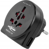 Ansmann 1250-0012 Úti adapter World to EU + USB