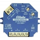 Eltako EUD61NPN-UC Falra szerelhető dimmer, Beépíthető dimmer Alkalmas fényforrásokhoz: Izzó, Energiatakarékos izzó, Halogén izzó, Fénycső Kék