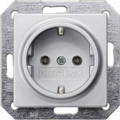 Siemens Betét Védőérintkezős dugalj Delta Alumínium (fémes) 5UB1931