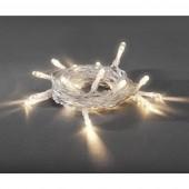 Beltéri LED-es fényfüzér, 30 LED, elemes, 335 cm, melegfehér, Konstsmide 1469-103