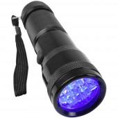 Berger & Schröter UV 395-400 nm UV LED Kézilámpa Csuklópánt Elemekről üzemeltetett 95 g