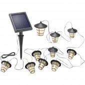 Esotec 102152 Napelemes fényfüzér Lámpás Kültérre Napenergiával üzemeltetett 10 LED Melegfehér Megvilágított hossz: 4 m