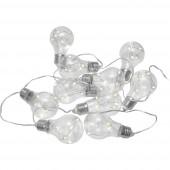 Eurolite 50499170 Fényfüzér, elemes Beltérre Elemekről üzemeltetett Fényforrások száma 10 LED