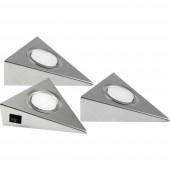 Heitronic 23009 GENUA LED-es polc alá szerelhető lámpa 6 W Nemesacél