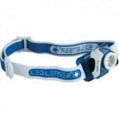 LED-es fejlámpa, akkus, 220 lm 130 m 20 óra 93 g, kék, Ledlenser SEO 7R 6107-R