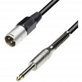 Adapter kábel 3 m, sztereo 6,3 jack dugó/XLR dugó, Paccs