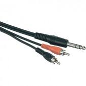 Adapterkábel 6,3MM sztereo/2X RCA-anya 5M