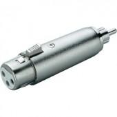 Átalakító adapter RCA dugó/XLR hüvely, Paccs