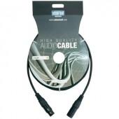DMX kábel, 10m-es XLR kábel toldó, hosszabbító adam hall KDMX10