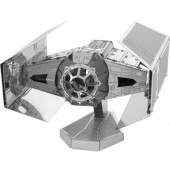 Metal Earth Star Wars Darth Vader TIE Fighter űrrepülő 3D lézervágott fémmodell építőkészlet 502664