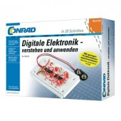 Digitális elektronika tanuló építőkészlet 14 éves kortól, Conrad 10073