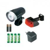 LED-es kerékpár lámpa készlet, akkus, fekete, Sigma Lightster Cuberider ll LED