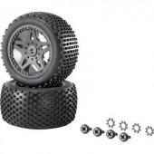 1:10 XS Buggy készre szerelt kerék Multipin 5 duplaküllős, fekete, 1 pár, Reely 12039+12618
