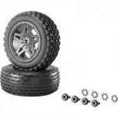1:10 XS Buggy készre szerelt kerék Multipin 5 duplaküllős, fekete, 1 pár Reely 12036+12618
