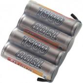 Conrad Energy 4.8V / 1800mAh Side by Side kivitelű csatlakozó nélküli vevő akkupack
