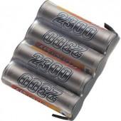 Conrad Energy 4.8V / 2300mAh Side by Side kivitelű csatlakkozó nélküli vevő akkupack