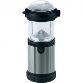 LED-es kempinglámpa, Cree XR-E 3 W LED, 9 óra, fekete/ezüst, Ampercell Montana 10425