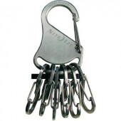 Kulcstartó, ezüst színű, 6 db 0,5-ös méretű S-Binerrel NI-KRS-03-11 KeyRack 6 S-Biner NITE Ize