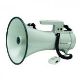 Megafon, hordpánttal, beépített hangokkal, kézi mikrofonnal, Monacor TM-35