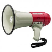 Megafon, hordpánttal, beépített hangokkal, Monacor TM-22