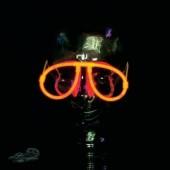 Világító szemüveg, piros