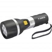 LED Kézilámpa Varta Day Light 2 D Elemekről üzemeltetett 58 lm 460 g Fekete/ezüst
