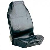 Autóülésvédő műbőr huzat, első ülésre, fekete 841680