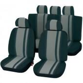 Autó üléshuzat készlet, 14 részes, szürke/fekete, Unitec