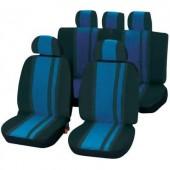 Autó üléshuzat készlet, 14 részes, kék/fekete, Unitec