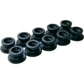 Kerek kötélvezető gombok, 10 részes, Ø 20 x 13 mm, LAS 10672