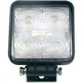LED-es munkalámpa csavaros lábbal, 12/24 V, (Sz x Ma x Mé) 110 x 110 x 41 mm