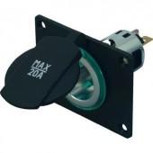 Beépíthető szivargyújtó aljzat záró fedéllel 12/24V max. 20 A ProCar 68141001