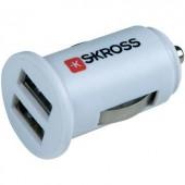 Szivargyújtó USB töltő adapter 2 részes USB aljzattal 12V/5V (max.) 1A Skross Midget 2.900610 MCC Dual