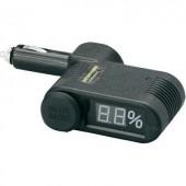 Szivargyújtós akkufeszültségmérő LED kijelzéssel Unitec 77096