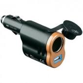 Szivargyújtó töltő, szivargyújtó adapter 12V/5V DC max. 5A Goobay 43561