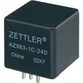 Autós relé, 12 VDC, 80 A/75 VDC, 1120 W, MINI ISO, Zettler Electronics AZ983-1A-12D