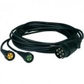 Bajonettzáras kábel készlet, 7 pólusú, 5 m