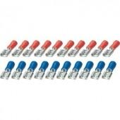 Csúszósaru hüvely készlet, 6,3 mm, 0,25-2,5 mm²