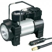 12V-os szivargyújtó dugós autós kompresszor LED-es világítással 10bar, 180 x 100 x 160 mm